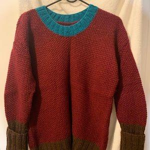 Handmade knitted pullover